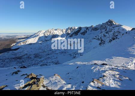 Mountain landscape in the winter. Tatras Kasprowy Wierch Zakopane Poland - Stock Photo