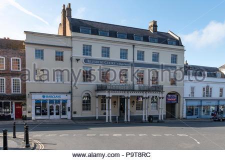 Ailesbury Court High Street, Marlborough, Wiltshire, England, UK - Stock Photo