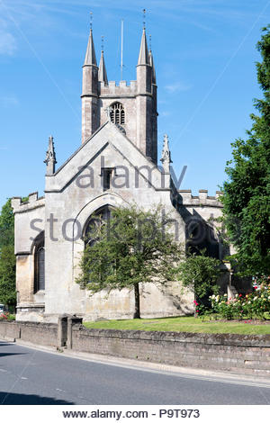 Saint Peters Church, High Street, Marlborough, Wiltshire, England, UK - Stock Photo