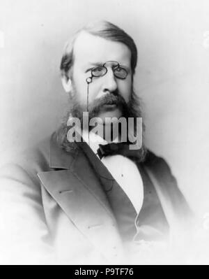 GEORGE FREDERICK BARKER (1835-1910_ American scientist and physician. Photo: Frederick Gutekunst - Stock Photo