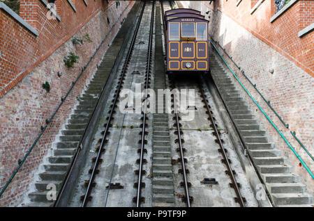 Budapest castle funicular, Hungary - Stock Photo