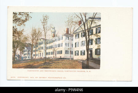 372 Dartmouth and Wentworth Halls, Dartmouth College, New Hampshire (NYPL b12647398-62217) - Stock Photo