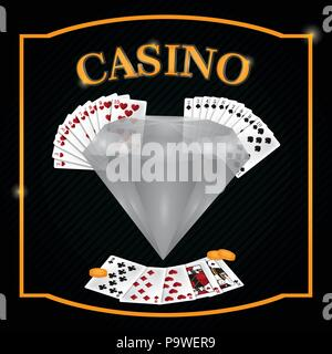 Casino game emblem - Stock Photo