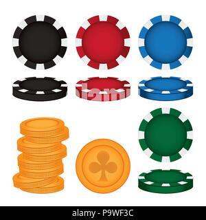 Set of casino icons - Stock Photo