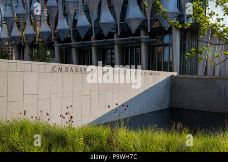 Exterior of the US Embassy in Nine Elms, on 7th July 2018, in London, England. - Stock Photo