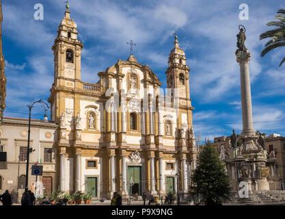 Sicily San Domenico church, Palermo, Sicily, Italy, Europe - Stock Photo