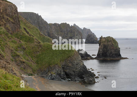 Semidi Islands coastline, Alaska - Stock Photo