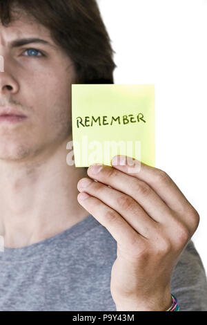 young people,message,remember - Stock Photo