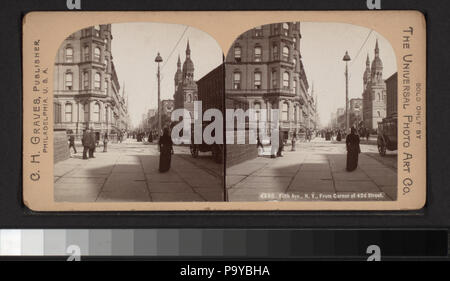 646 Fifth Avenue, New York, from corner of 42nd Street (NYPL b16081757-G91F185 023F) - Stock Photo