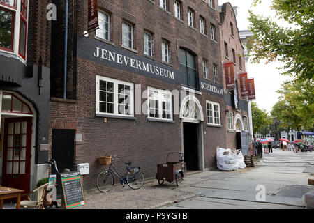 The Jenever Museum (Jenevermuseum) at Schiedam, the Netherlands. The museum tells the story of jenever, a Dutch drink similar to gin. - Stock Photo