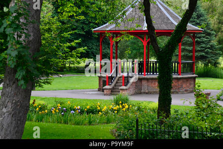 Bandstand in The Walks, Historic, 18th-century park with trails. Kings Lynn, Norfolk, England, UK - Stock Photo