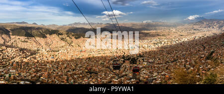 La Paz from above - Stock Photo