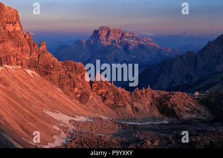 View towards Croda Rossa d'Ampezzo - Stock Photo