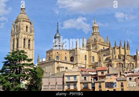 Segovia Cathedral (Catedral de Santa María de Segovia), Spain - Stock Photo