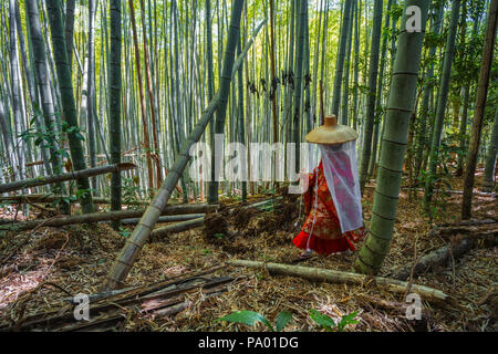 Kumano Kodo pilgrimage route. Daimon-zaka slope. Bamboo trees. Wakayama Prefecture. Kii Peninsula. Kansai region. Honshü Island . UNESCO . Japan - Stock Photo