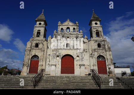 Church Of Guadalupe in the colonial town of Granada in  Nicaragua - Stock Photo