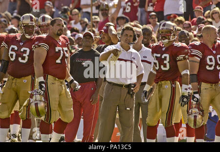 San Francisco, California, USA. 22nd Sep, 2002. 49ers head coach Steve Mariucci on Sunday, September 22, 2002, in San Francisco, California. The 49ers defeated the Redskins 20-10. Credit: Al Golub/ZUMA Wire/Alamy Live News - Stock Photo