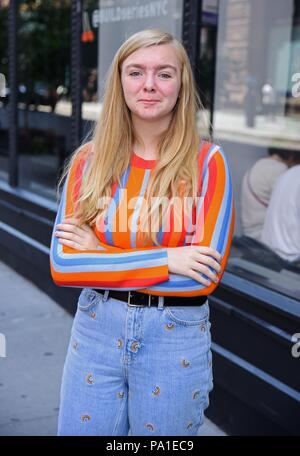 New York, NY, USA. 20th July, 2018. Elsie Fisher, seen at BUILD Series to promote EIGHTH GRADE out and about for Celebrity Candids - FRI, New York, NY July 20, 2018. Credit: Derek Storm/Everett Collection/Alamy Live News - Stock Photo
