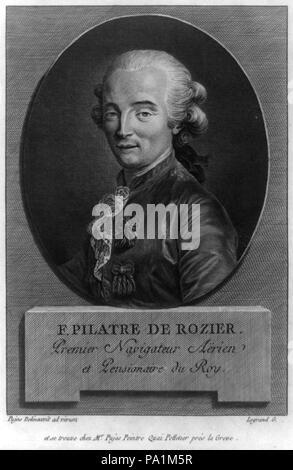 635 F. Pilatre de Rozier. Premier navigateur ae̋rien et pensionaire du roy LCCN2002724820 - Stock Photo