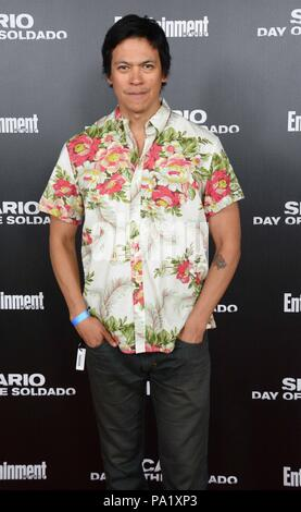 'Sicario: Day of the Soldado' Premiere - Arrivals  Featuring: Chaske Spencer Where: NYC, New York, United States When: 18 Jun 2018 Credit: Patricia Schlein/WENN.com - Stock Photo