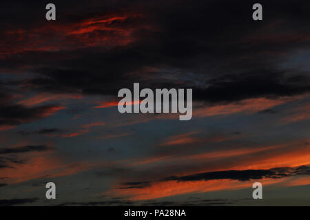 Sunset sky background,Colored sky on sunset time background - Stock Photo