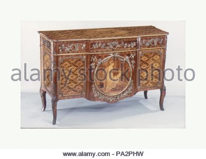Commode (part of a set), Marquetry medallion attributed to Stock ...