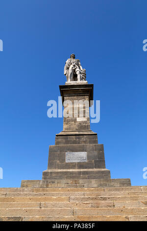 The monument to Admiral Lord Collingwood at Tynemouth in England. Cuthbert Collingwood (1748 - 1810) was a naval commander during the Napoleonic Wars  - Stock Photo