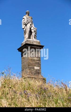 Admiral Lord Collingwood monument in Tynemouth, north-east England. Cuthbert Collingwood (1748 - 1810) served in the Royal Navy at Trafalgar. - Stock Photo