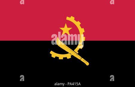 Detailed Illustration National Flag angola - Stock Photo