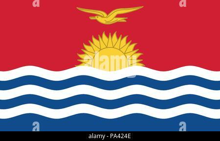 Detailed Illustration National Flag Kiribati - Stock Photo