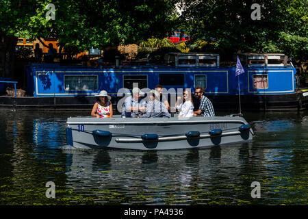 A GoBoat On Regent's Canal, In Little Venice, London, England - Stock Photo