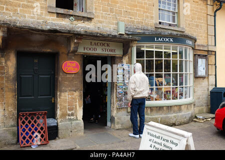 A small shop in the village of Lacock in Wiltshire, England. - Stock Photo