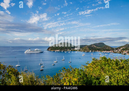 Les Saintes from Guadeloupe island one of the Most Beautiful Bays of the World - Stock Photo