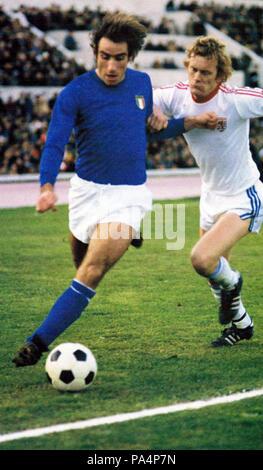 95 Francesco Graziani, Italia-Lussemburgo 3-0, 3 dicembre 1977 - Stock Photo