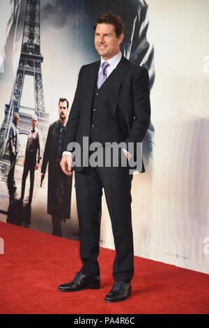 Tom Cruise,Mission:Impossible-Fallout,UK Premiere,Odeon BFI IMAX,Waterloo,London.UK 13.07.18 - Stock Photo