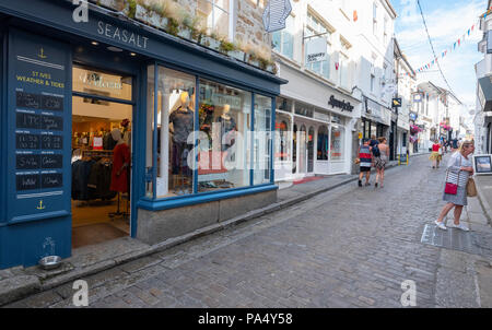 St.Ives Seasalt on Fore Street - Stock Photo