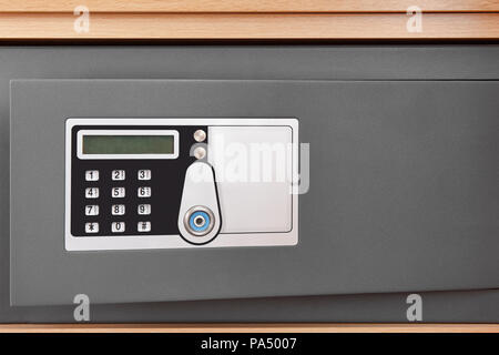 Deposit box with numeric code locker and security camera. Horizontal - Stock Photo