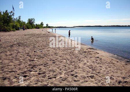 Wards Island Beach on Toronto Islands, Ontario, Canada - Stock Photo