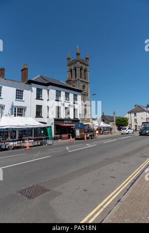 High Street Honiton, Devon, England, UK, - Stock Photo