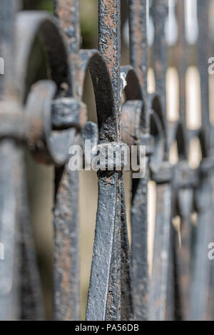Part Of Old Metal Fence - Stock Photo