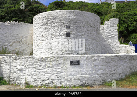 Lime Kiln in Porthleven, Cornwall, England, UK. - Stock Photo