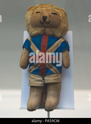 July 7, 2018, Moscow, Russia Official mascot FIFA World Cup 1966 in England a lion Willie.