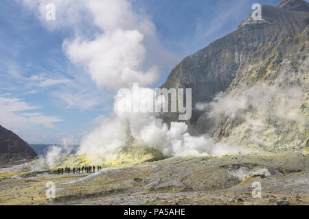 White Island active volcano, New Zealand - Stock Photo