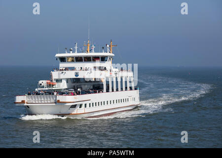 Ferry between Norden-Norddeich and Norderney island, East Frisia, Lower Saxony, Germany - Stock Photo