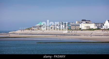 Western Beach, Norderney, east frisian island, East Frisia, Lower Saxony, Germany - Stock Photo