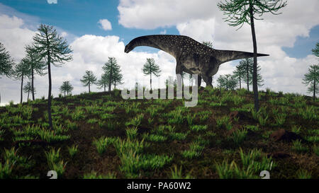 3d rendering of the titanosaurus - Stock Photo