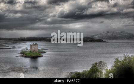 A hdri photography of the Castle Stalker in Scotland - Stock Photo