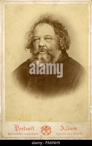 Portrait of Mikhail Alexandrovich Bakunin (1814-1876). Museum: PRIVATE COLLECTION. - Stock Photo
