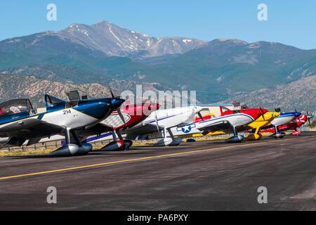 Van's Aircraft RV-8; Harriett Alexander Field; air show; Salida; Colorado; USA - Stock Photo