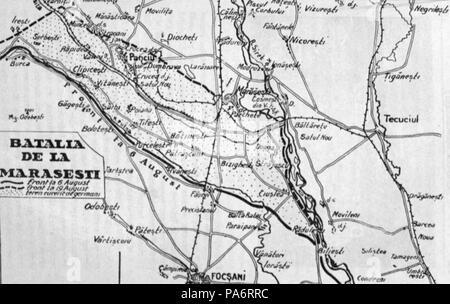5 1929 Harta Bat De La Marasesti 6 Aug 1917 Kiritescu Ii 506